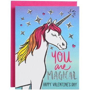You Are Magical - Unicorn Valentines Day Card