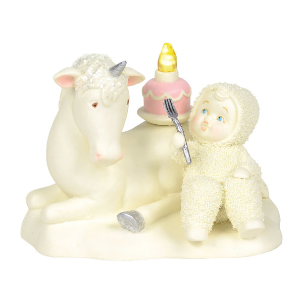 "Snowbabies ""Happy as a Unicorn Eating Cake - the unicorn store"