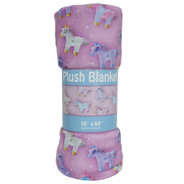 Unicorns & Stars Plush Blanket