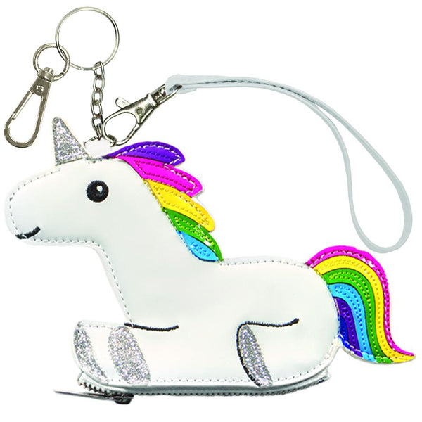 Rainbow Unicorn Coin Purse Key Chain - the unicorn store