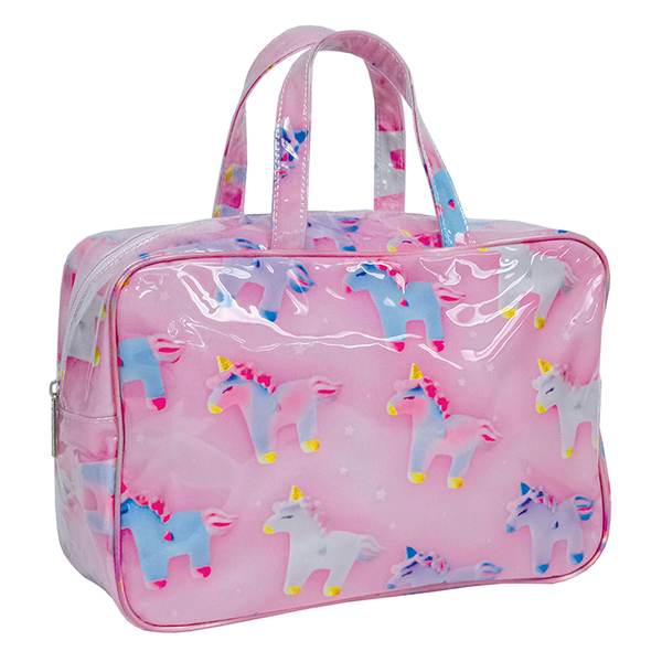 Unicorns And Stars Large Cosmetic Case