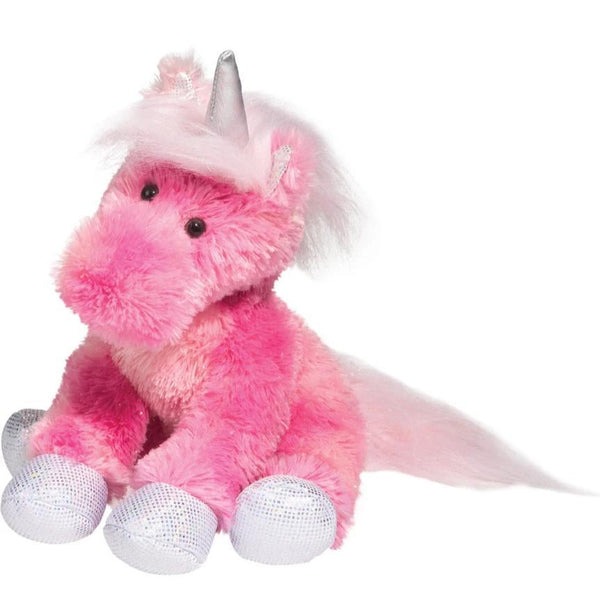 Pink Plush Unicorn with silver glitter feet and horn - the unicorn store