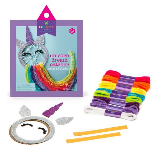 Unicorn Mini Dream Catcher Craft Kit Supplies