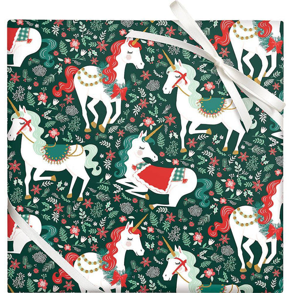 Holiday Unicorn 2 Sheets/Roll Wrap