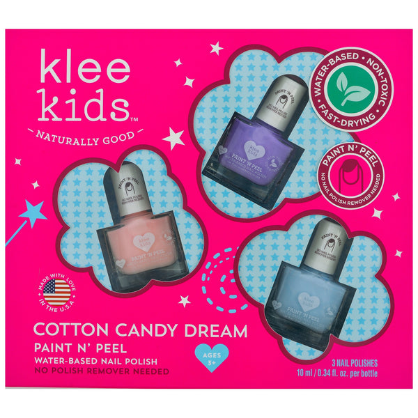 Cotton Candy Dream Paint & Peel Nail Polish Set