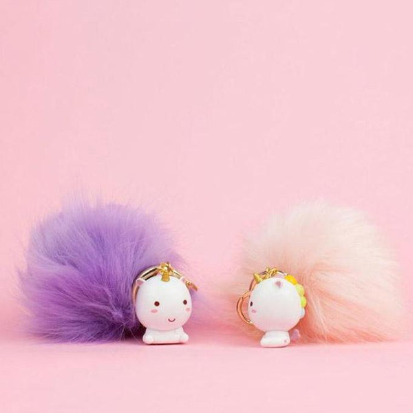 Elodie Unicorn Pom Pom Key Chain - the unicorn store