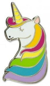 Enamel Unicorn Pin