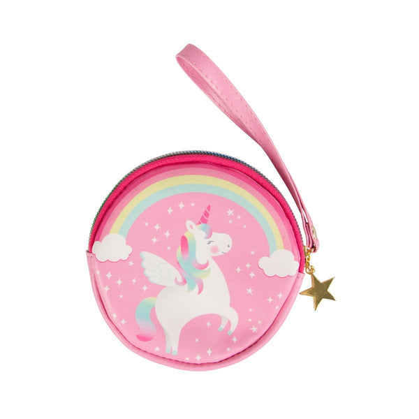 Rainbow Unicorn Coin Purse Wristlet - the unicorn store