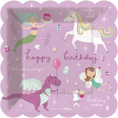 Fantastical Birthday Dessert Party Plates - Set of 8 - the unicorn store