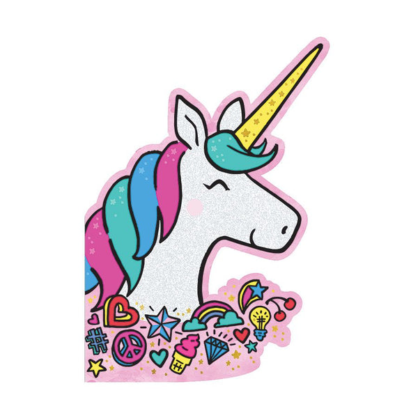 Glittery Birthday Unicorn - Birthday Card