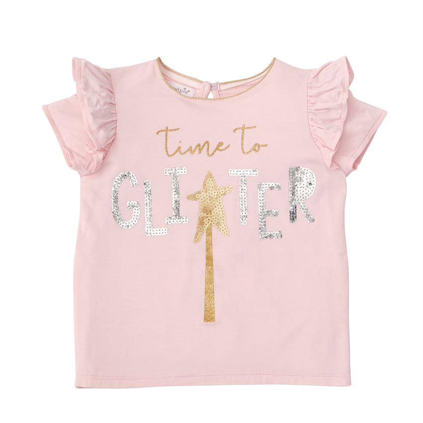 Time To Glitter Pink Sequin Top