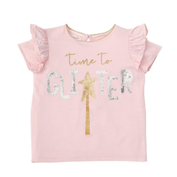 Time To Glitter Pink Sequin Top - the unicorn store
