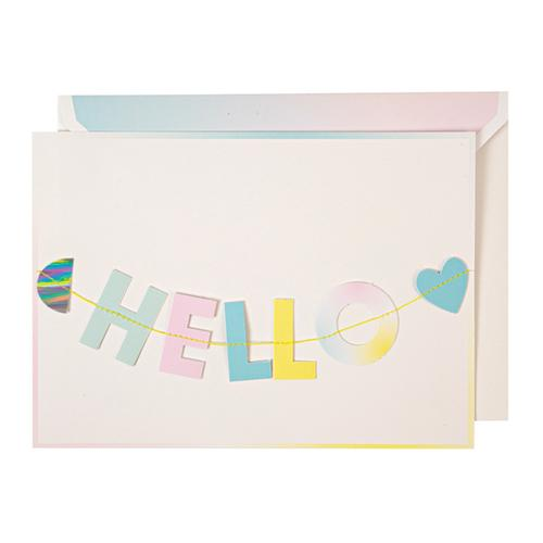Hello Little One Garland Baby Card