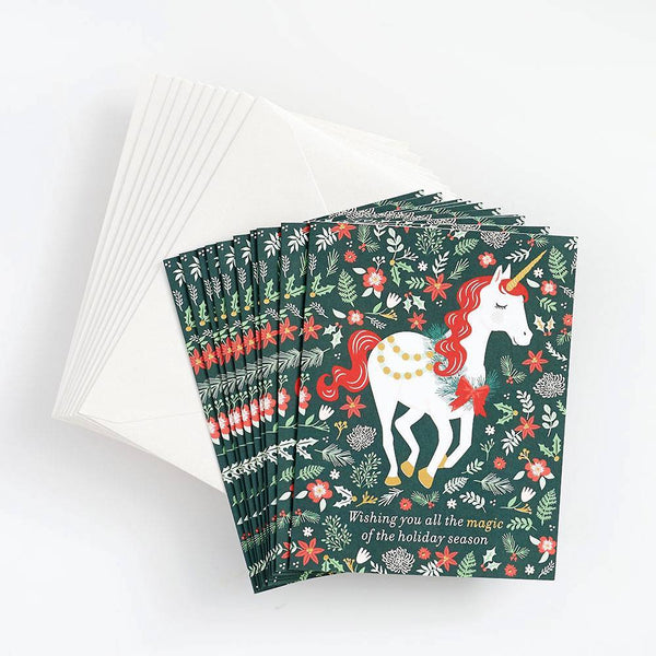 Holiday Magic Unicorn Stationery Set