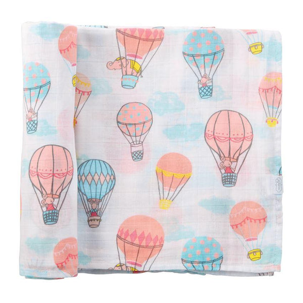 Hot Air Balloon Muslin Cotton Swaddle