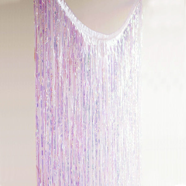 We Heart Unicorns - Iridescent Fringe Curtain - the unicorn store