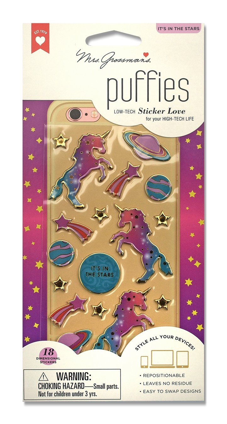 unicorns, stars, and planets stickers