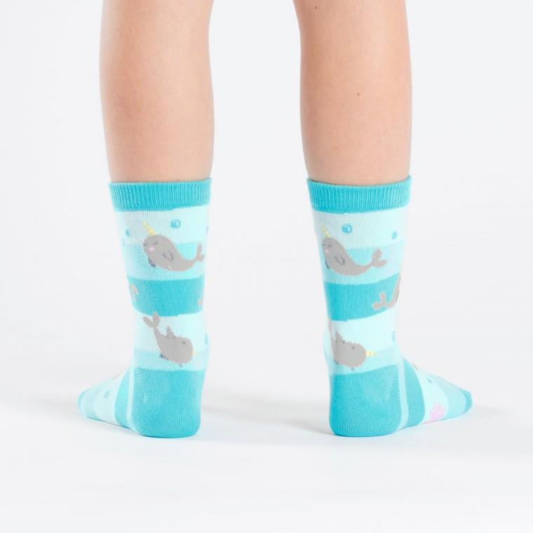 Narwhal Unicorn Of The Sea Junior Crew Socks - Ages 7-10 - the unicorn store