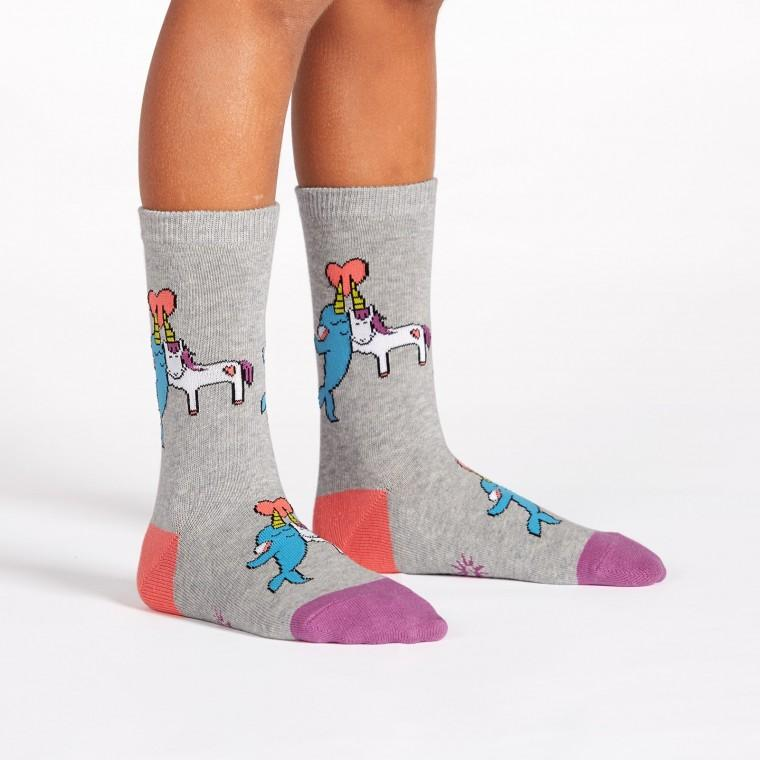 Great Horns Think Alike Youth Crew Socks - Ages 3-6