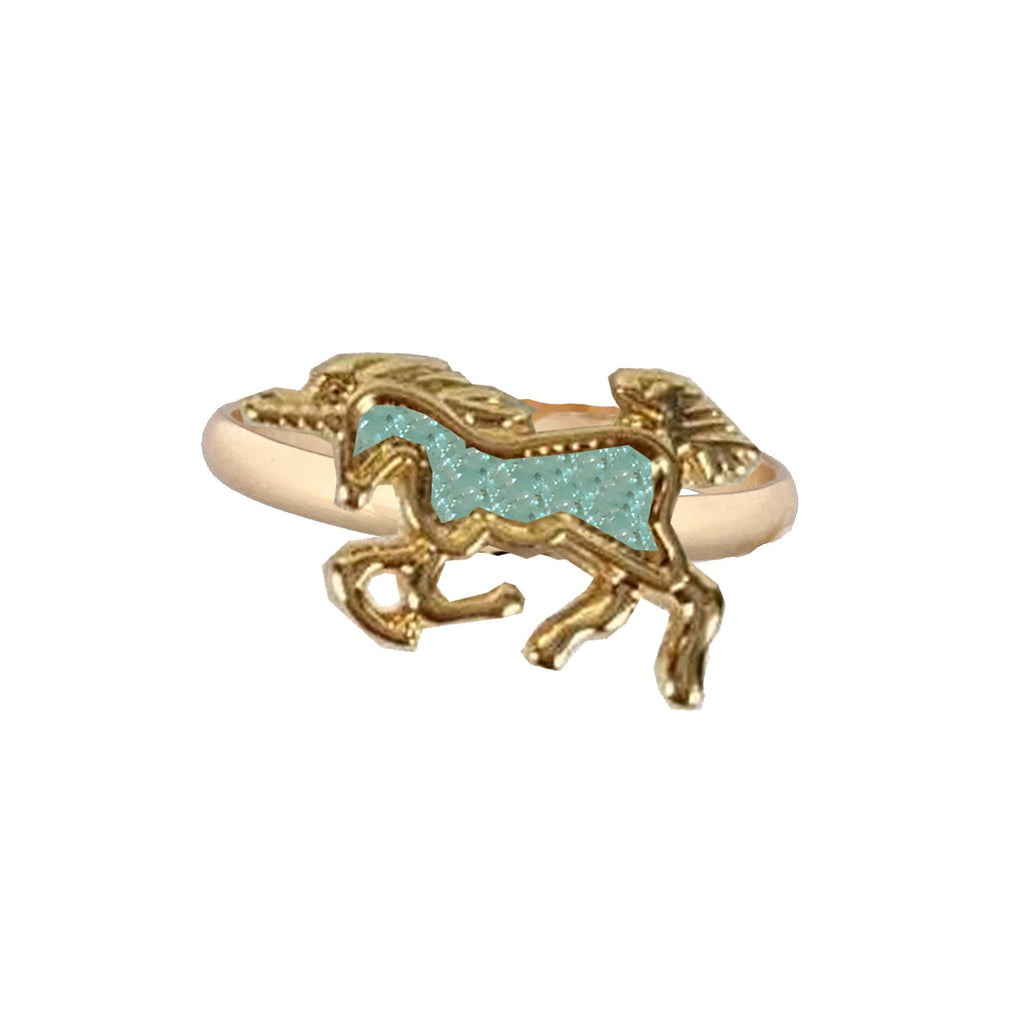 Kids Gold Ring With Mint Unicorn Druzy - the unicorn store