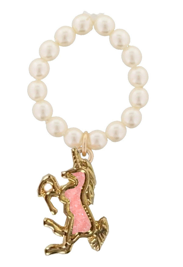 Kids Pearl Unicorn Stretch Ring - the unicorn store