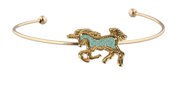 Kids Gold Cuff Unicorn Bracelet - the unicorn store