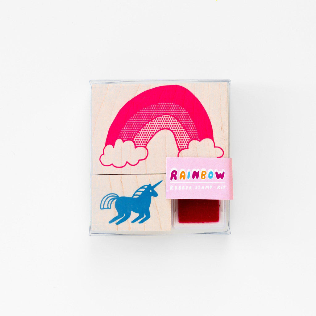 Unicorn & Rainbow Stamp Kit - the unicorn store