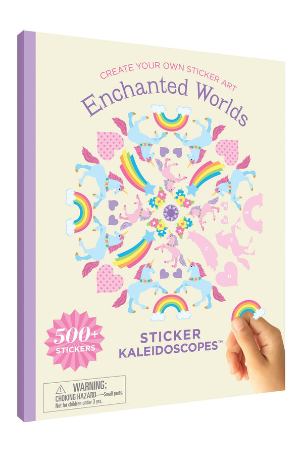 Enchanted Worlds Sticker Kaleidoscopes Book - the unicorn store