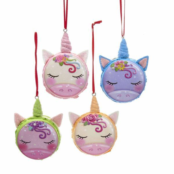 Unicorn Macaroon Ornament Set