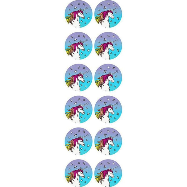 Magical Unicorn Circle Stickers - the unicorn store