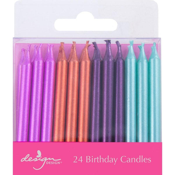 Metallic Mix Birthday Candles
