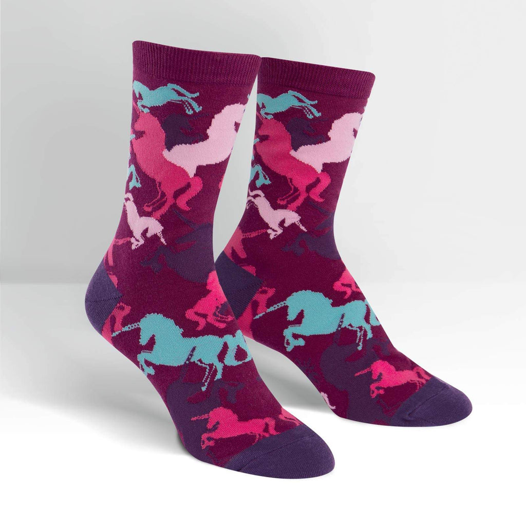 womens unicorn crew socks