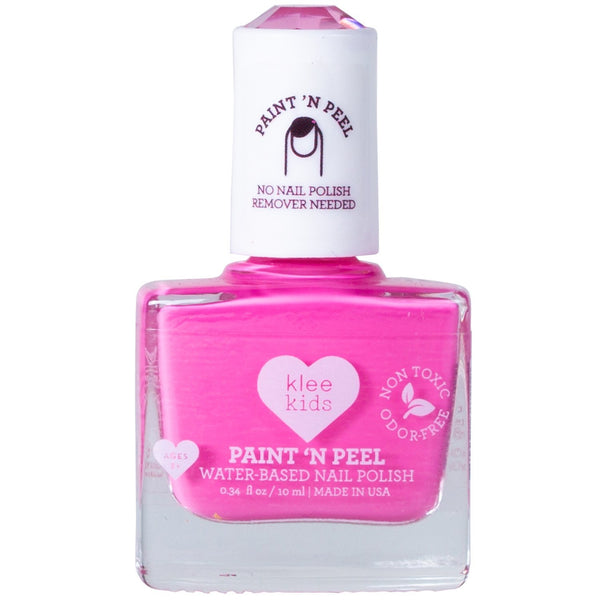 kids peel off nail polish hot pink