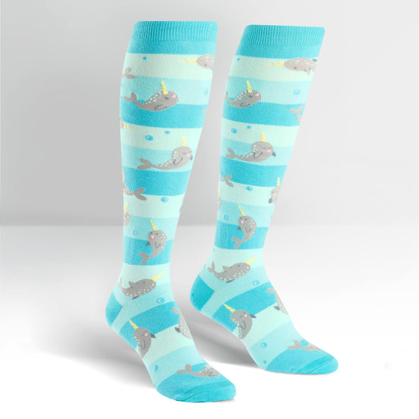 Narwhal Unicorn Of The Sea Knee High - Socks - the unicorn store
