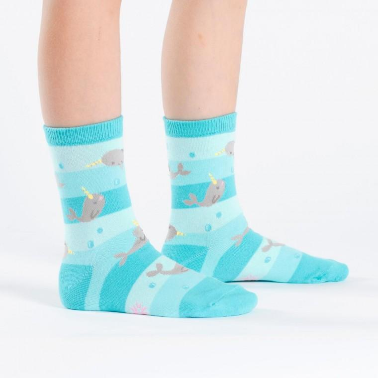 Narwhal Unicorn Of The Sea Youth Crew Socks - Ages 3-6 - the unicorn store
