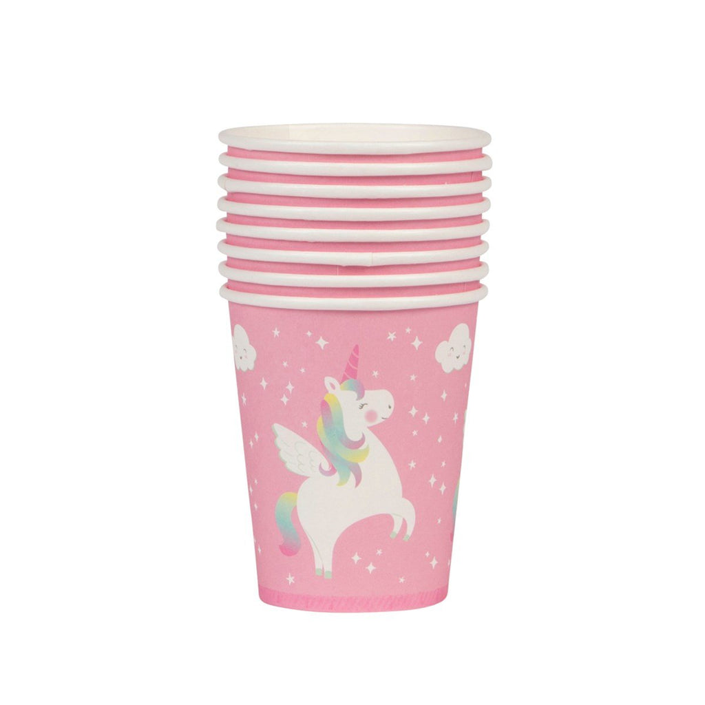 Pink Rainbow Unicorn Party Cups - Set of 8 - the unicorn store