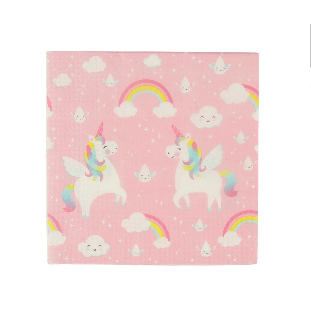 Pink Rainbow Unicorn Large Napkins - Set of 20 - the unicorn store