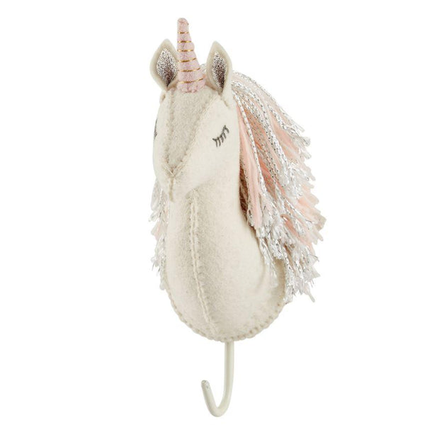 Pink Horn Unicorn Wall Hook