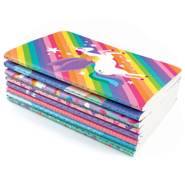 Unique Unicorns Pocket Journals - Set of 8