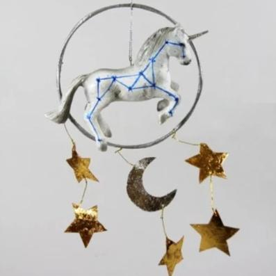 Unicorn Moon Mobile Ornament