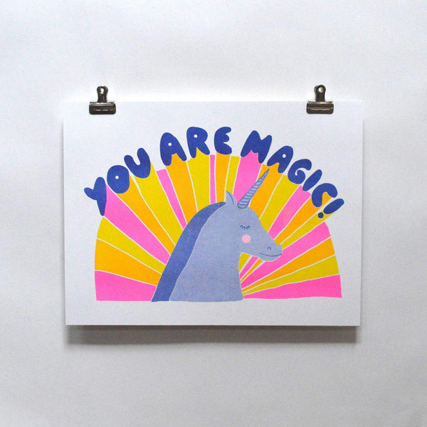 You Are Magic - Risograph Print - the unicorn store