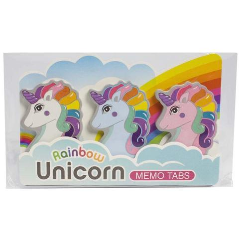 Rainbow Unicorn Memo Tab Set - the unicorn store