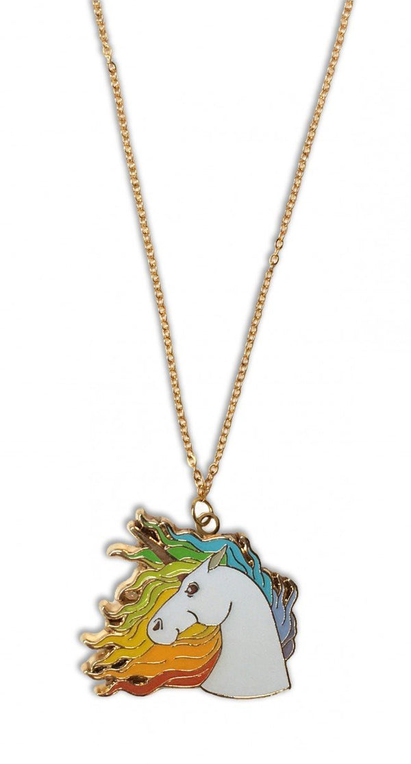 Rainbow Unicorn Pendant Necklace