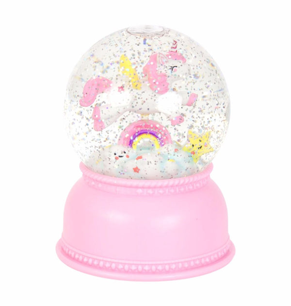 Unicorn Snow Globe Light