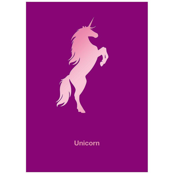 Standing Unicorn - Birthday Card