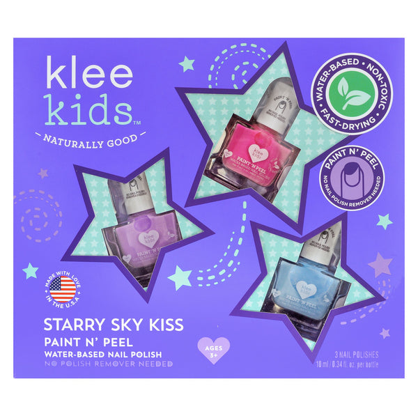 Starry Sky Kiss Paint & Peel Nail Polish Set