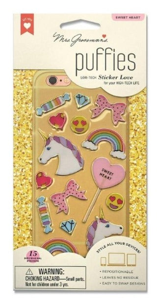 Sweetheart Puffies - Stickers - the unicorn store