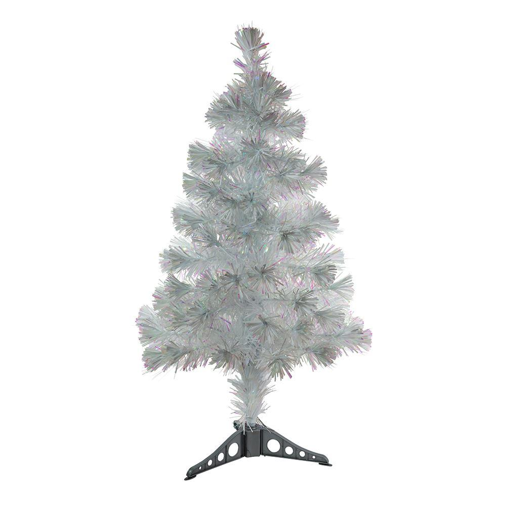 Fiber Optic Iridescent Color Changing Tree 36""