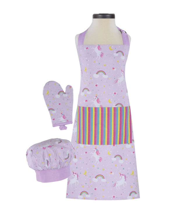 unicorn apron set