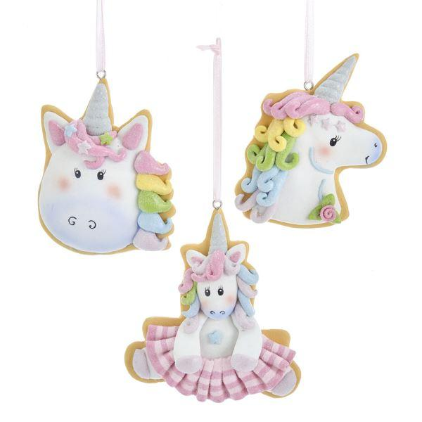 Pastel Unicorn Cookie Ornament Set